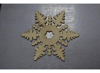 """Снежинка/дерево """"Новогодняя сказка"""" d10см (набор 5шт)"""