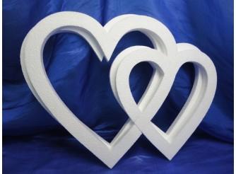 """Заготовка для творчества """"Сердце контурное двойное"""" 32см/1см (набор 5шт)"""