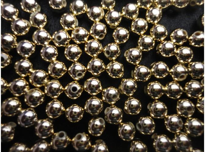 Бусинки 6мм/перламутровые золото  (10гр)
