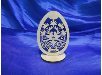 """Яйцо на подставке """"Пасхальные узоры"""" h8см/фанера  (1 шт)"""