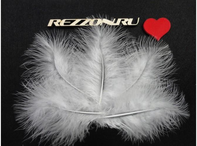 Перья марабу белые 12-15 см (5 шт)