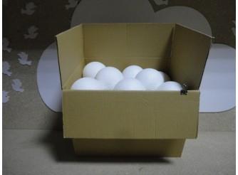 Шар из пенопласта Ø11 см / фактурный (коробка)