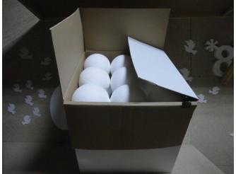 Шар из пенопласта Ø17 см / фактурный (коробка 27шт)