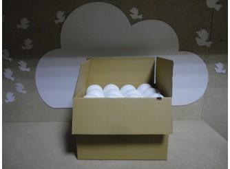 Шар из пенопласта Ø10 см / фактурный (коробка 36шт)