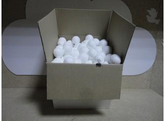 Шар из пенопласта Ø4 см / фактурный (коробка 460шт)