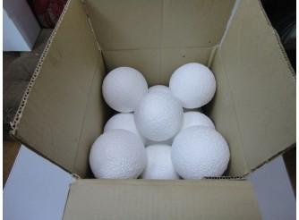 Шар из пенопласта Ø8 см / фактурный (коробка 14шт)