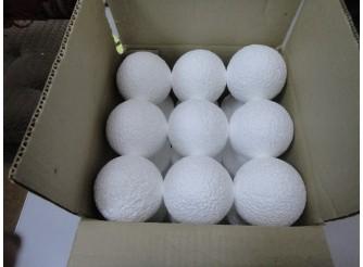 Шар из пенопласта Ø7 см / фактурный (коробка 27шт)
