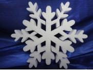 Снежинка из пенопласта Ø 25 см (1шт)