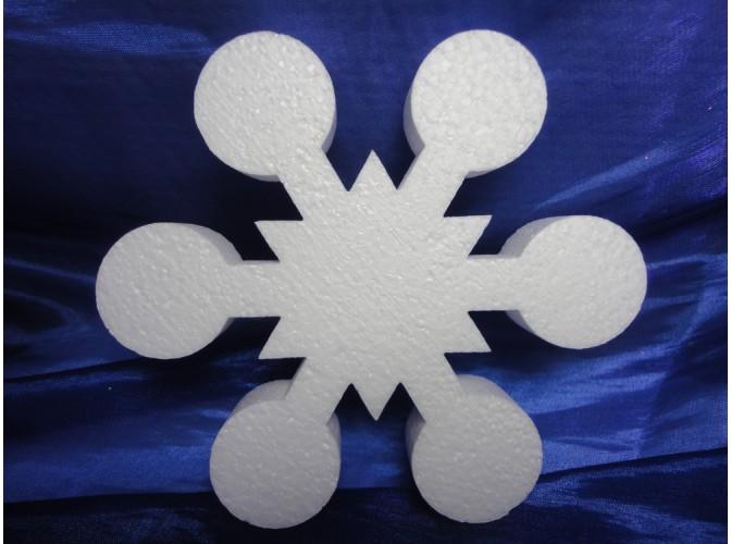 Снежинка из пенопласта Ø 30 см (1шт)