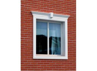 """Декор для фасада из пенопласта """"Окно №8"""" (1 комплект)"""