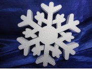 Снежинка из пенопласта Ø 20 см (1шт)
