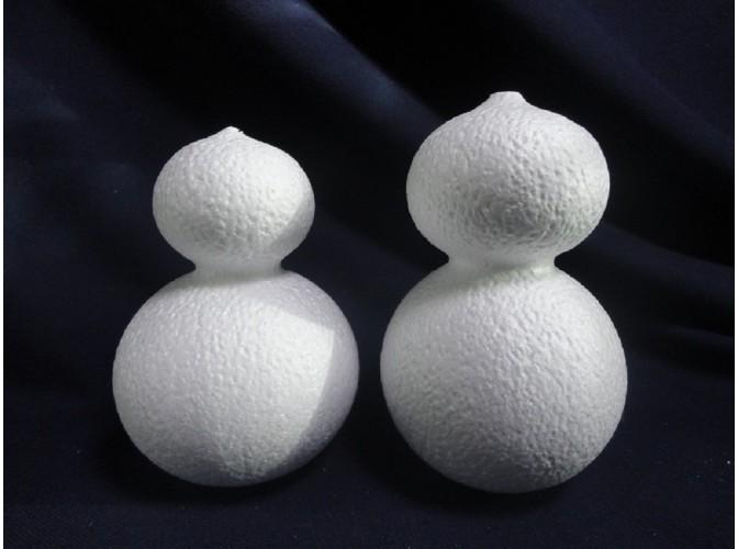 """Заготовка из пенопласта 3D """"Снеговик""""/2 яруса; h14см (набор 2шт)"""