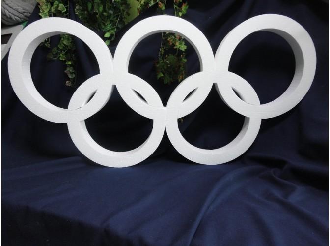 """Заготовка из пенопласта """"Олимпийские кольца"""" (1шт)"""