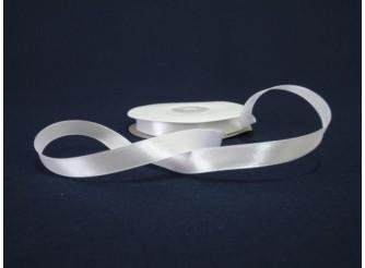 Лента атласная 1,2см /белый (1м)