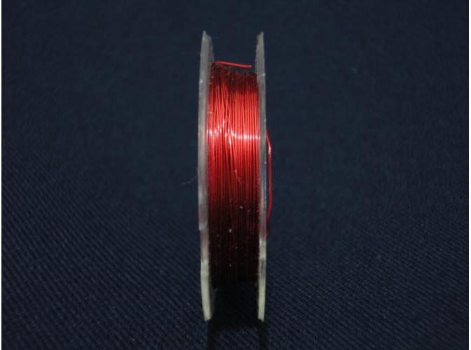 Проволока для бисера, цвет красный 0,3мм/10м (1шт)