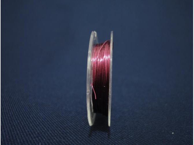 Проволока для бисера, цвет сиреневый 0,3мм/10м (1шт)
