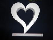 "Заготовка для творчества ""Сердце ассиметричное"" контур Ø30/2 см (1шт)"