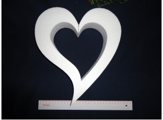 "Заготовка для творчества ""Сердце ассиметричное"" контур Ø20/2 см (1шт)"