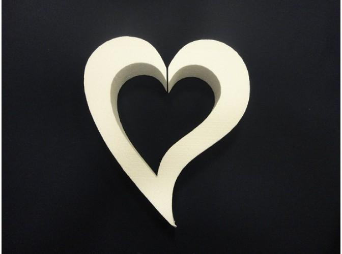 "Заготовка для творчества ""Сердце ассиметричное"" контур Ø50/5см (1шт)"