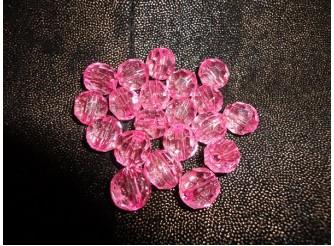 Бусины акриловые 16мм розовые (20 шт)