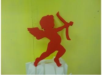 "Фигурка из пенопласта ""Купидон - лучник"" 45х40х2,5 цветной (1шт)"