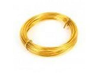 Проволока флористическая золотая 1,0 мм (5м)