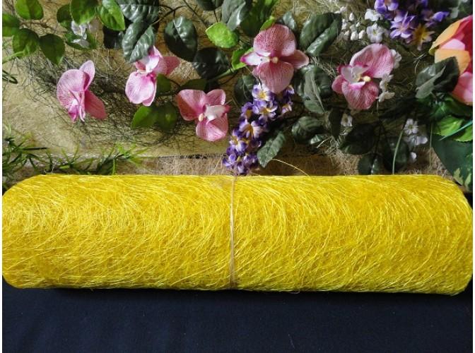 Сизалевое полотно, цвет лимонный (1м)