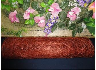 Сизалевое полотно, цвет коричневый (1м)