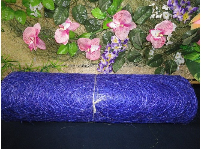 Сизалевое полотно, цвет синий (1м)