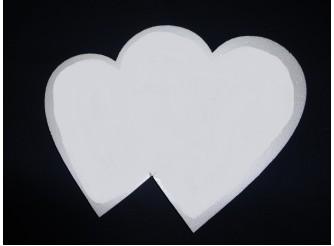 """Заготовка для творчества """"Сердце  двойное сплошное"""" h55/7см(1шт)"""