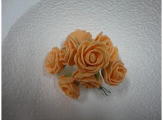 Цветочная головка роза молочный/латекс Ø2,3см (12шт)