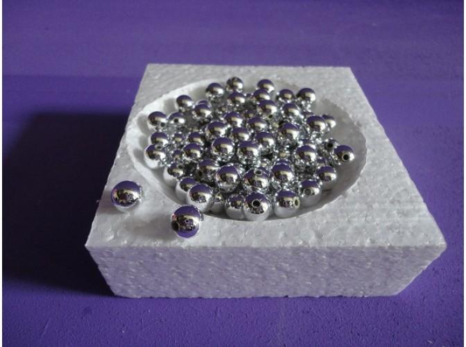 Бусинки 8мм/ металлизированные серебро (20гр)