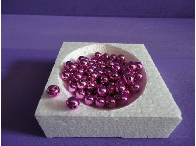 Бусинки 8мм/ металлизированные сиреневые (20гр)