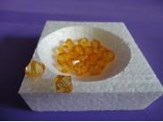 Бусины акриловые 12мм янтарь (20 шт)