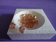 Бусины акриловые 12мм бронза (20 шт)
