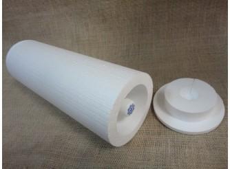 Круглая коробка(ложемент) под пластиковую бутылку/термос h38см (1шт)