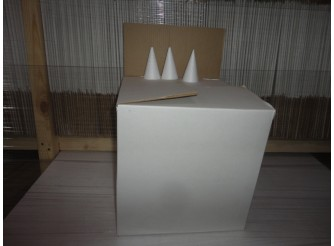 Конус из пенопласта h20, Ø9 (коробка 40шт)