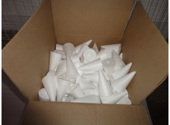 Конус из пенопласта h9, Ø5 (коробка 200 шт)
