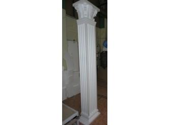 Колонна из пенопласта квадратная с каннелюрами h 400 см (комплект)