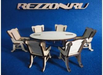 """Комплект мебели """"Стол """"Овал""""+ стулья """" (7 предметов)"""