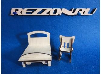 """Комплект мебели """"Детская кроватка и кресло-качалка"""" (2 предмета)"""