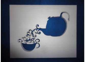 """Постер из пенопласта """"Ароматный чай""""/сквозной (1шт)"""