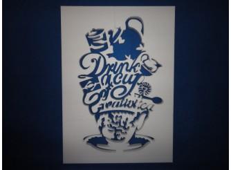 """Постер из пенопласта """"Креативное чаепитие""""/сквозной (1шт)"""