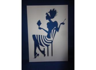 """Постер из пенопласта """"Девушка с мороженым""""/сквозной (1шт)"""