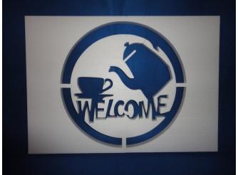 """Постер из пенопласта """"Welcome""""/сквозной (1шт)"""