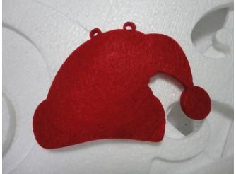 "Заготовка для гирлянды ""Шапка Санта Клауса""/ фетр (набор 3шт)"