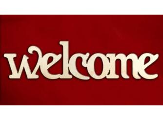 "Заготовка для декупажа ""Welcome"" 30х7см(1шт)"