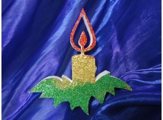 """Декор из пенопласта """"Новогодняя свеча"""" h15 (1шт)"""