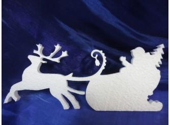 """Заготовка для творчества """"Дед Мороз спешит на праздник"""" 12*27*2см (1шт)"""