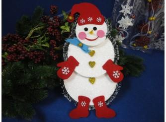 "Декор из пенопласта "" Снеговик - Санта"" h30см (1шт)"